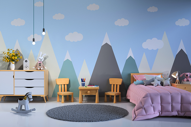 Bedroom wallpaper texture for kids which are inquisitive and tend to get lost in their dreamworlds for bedroom design wallpaper