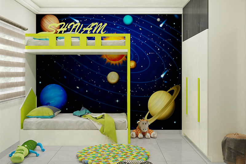 Bedroom wallpaper patterns where you can bring the beauty of galaxy to your kids wallpaper design for bedroom