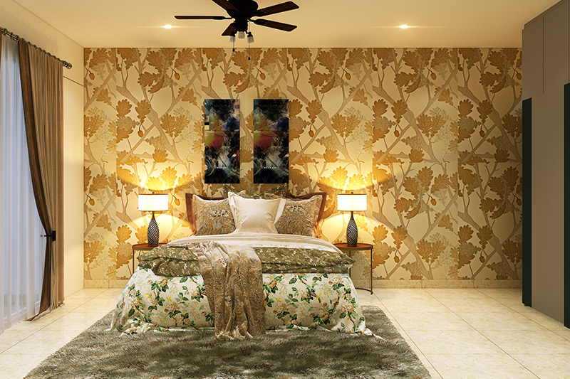Modern bedroom wallpaper adds a royalty to your bedroom with stunning metallic effects for wallpaper for bedroom walls