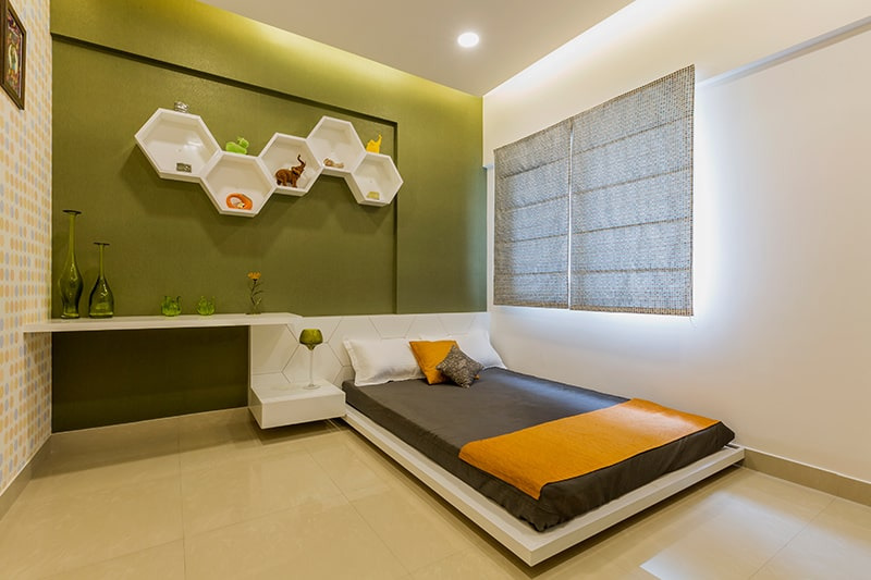 Bedroom with wooden flooring is the best way to design for easy-clean your bedroom
