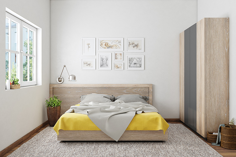 Bedroom wall art with beautiful photographic memories or miniature wall art for modern bedroom wall design
