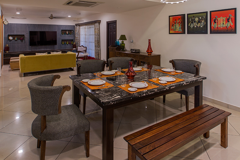 Dining table set 4 seater which is ideal if mealtimes are a family affair for modern dining table set