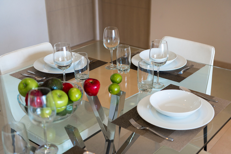 Glass top dining table set or your home for hours of work put into materials and workmanship
