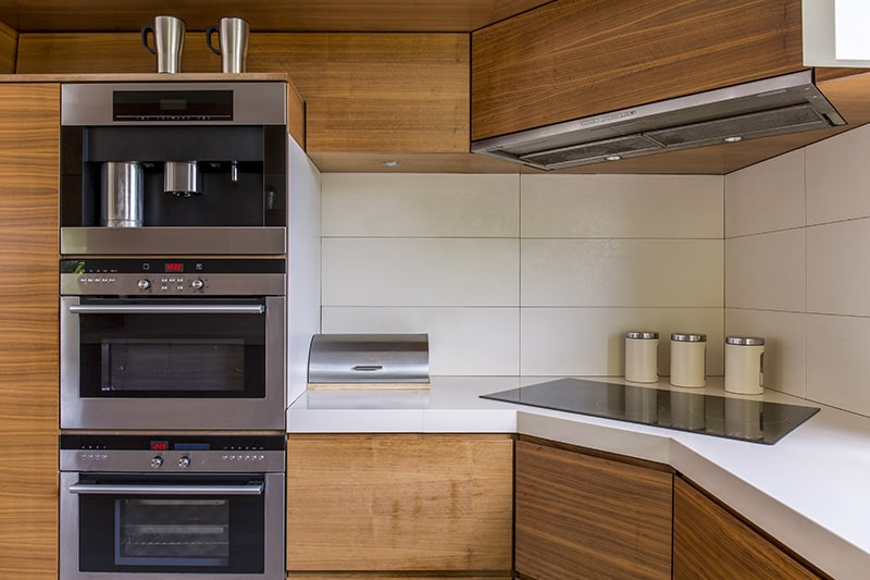 Corner kitchenette, design your tight corners are turned into useful
