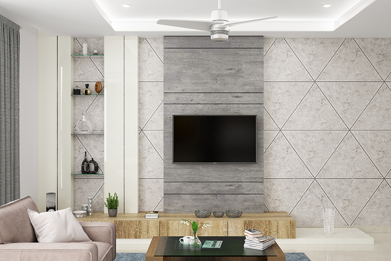 Living room wall tile ideas where geometry takes centre stage in this sharp modern living space for latest wall tiles design for living room