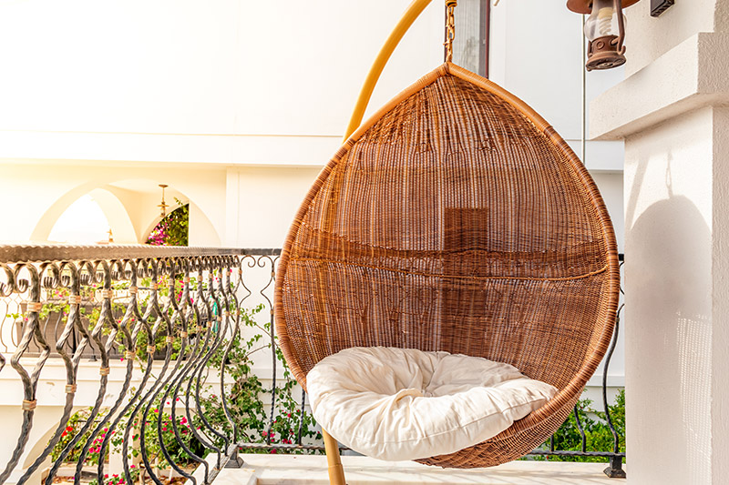 Balcony decoration ideas with plants for your home where having a personal swing or a hammock is on each one of our outdoor balcony decor