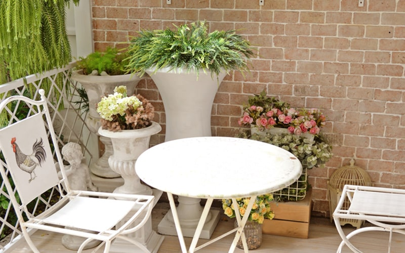Balcony seating furniture with scandinavian themes are elegant and functional for balcony furniture
