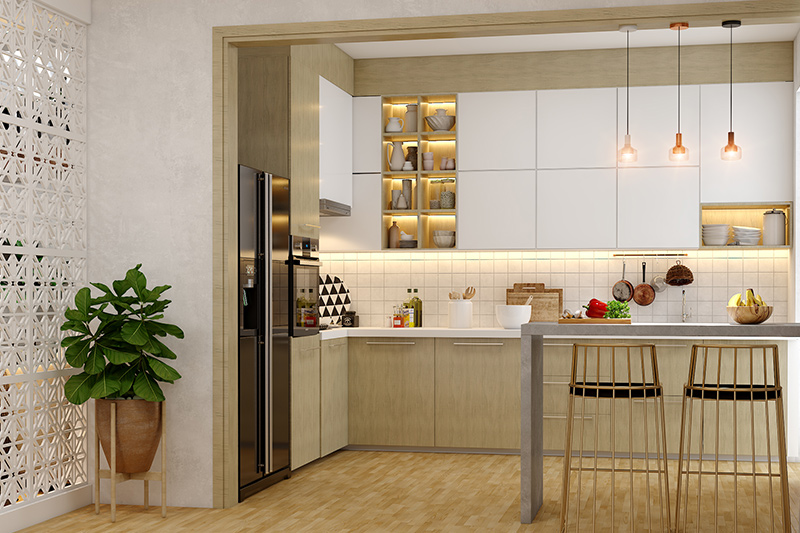 Kitchen design pictures modern which  flaunts a subdued colour palette