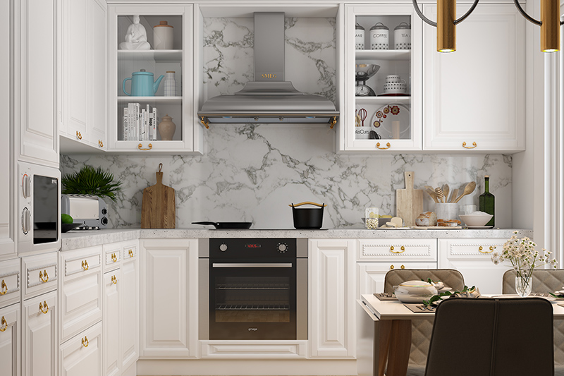 Modern kitchen design ideas for your home where pure white kitchen is with its raised panel cabinet doors