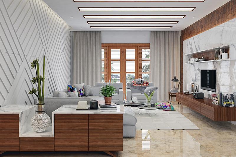 Latest tiles design for living room