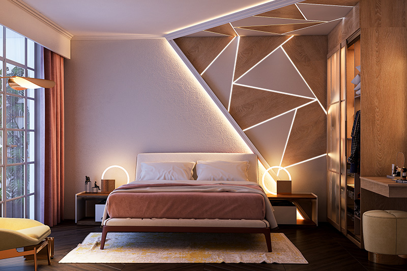 Bedroom ideas for couples on a budget where designer light fixtures make your home look elegant on a budget