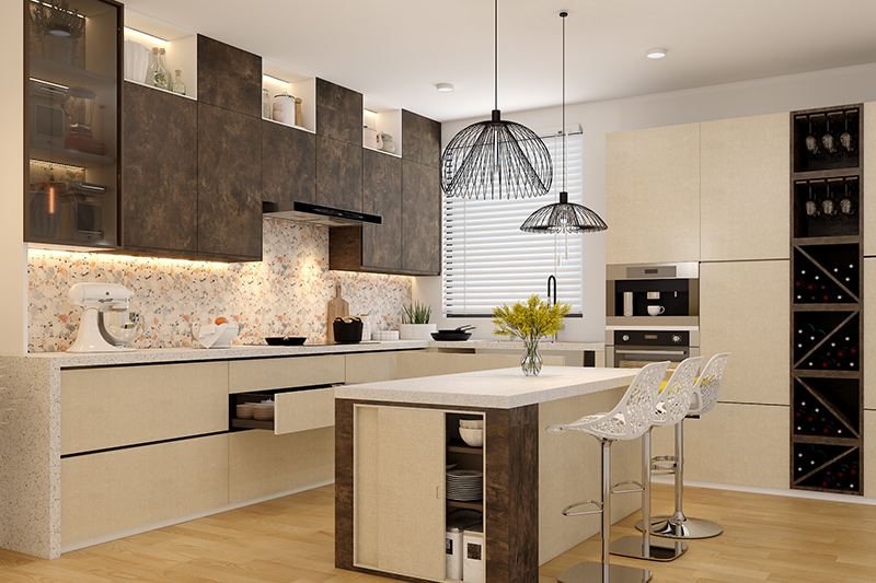 Kitchen furniture price where the structure contributes to the overall cost of your modular kitchen