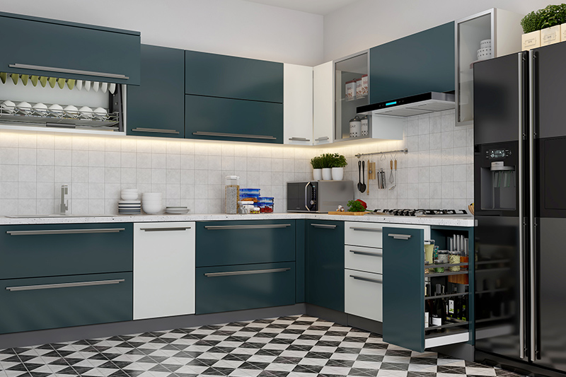 Modular kitchen designs with price where plenty of materials and finishes available in the market for kitchen prices