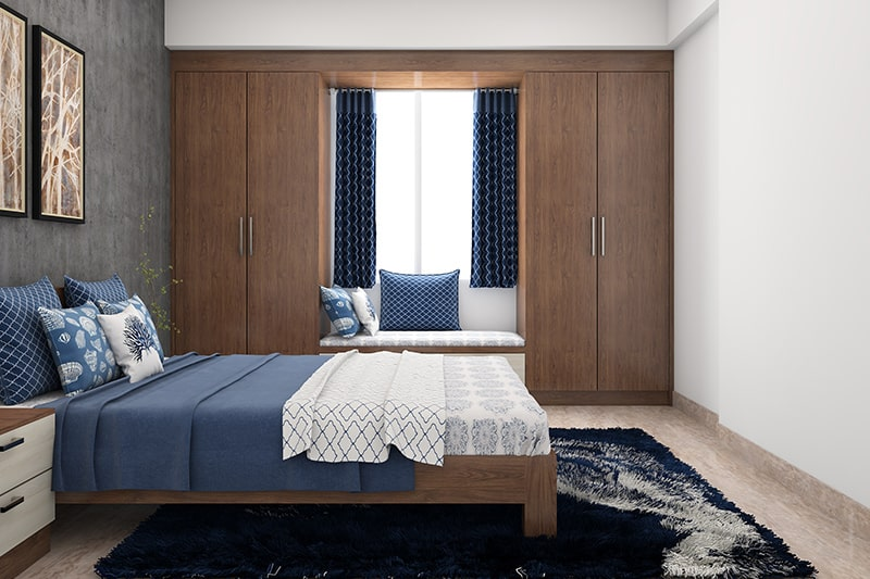 A great designer wardrobes to utilises most of the wall space to make a trendy bedroom designer wardrobes