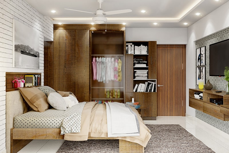 Translucent designer wardrobe is the right choice for storage and style option for your modern bedroom