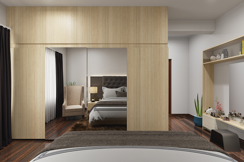 Sunmica wardrobe door design gives a quality of your bedroom wardrobe