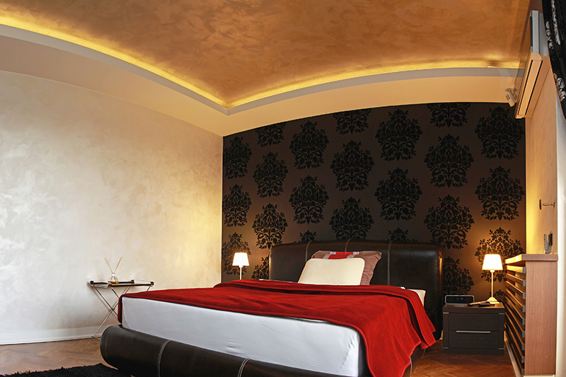 False ceiling colour which looks fabulous in a bedroom or living room
