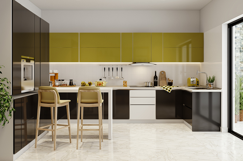 Let us tell you how to design a g shaped kitchen with breakfast counter