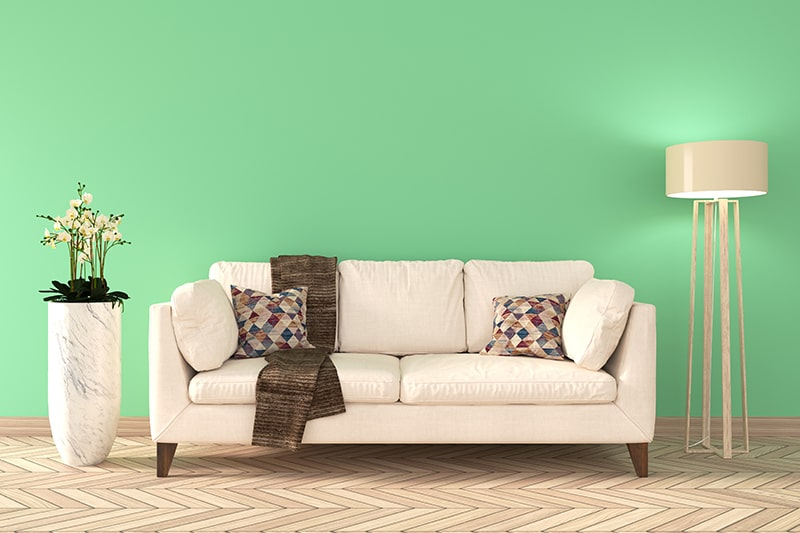 Mint green paint colors for your home to make a cool and calm living room