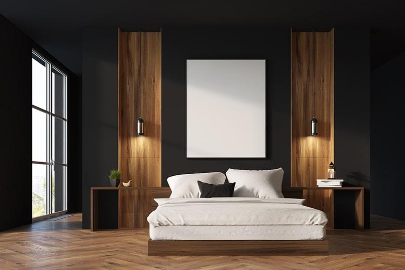 Black bedroom design keep it minimalistic with sleek black bedroom walls