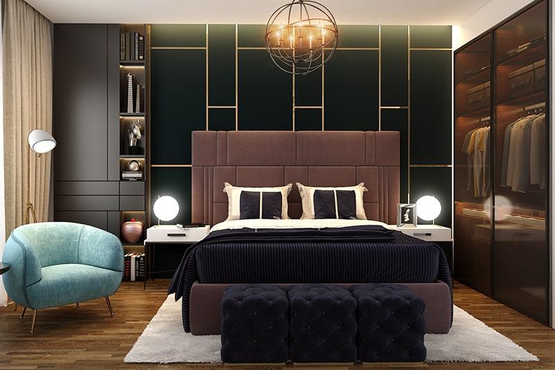 Black bedroom lighting design ideas look more warm, stylish