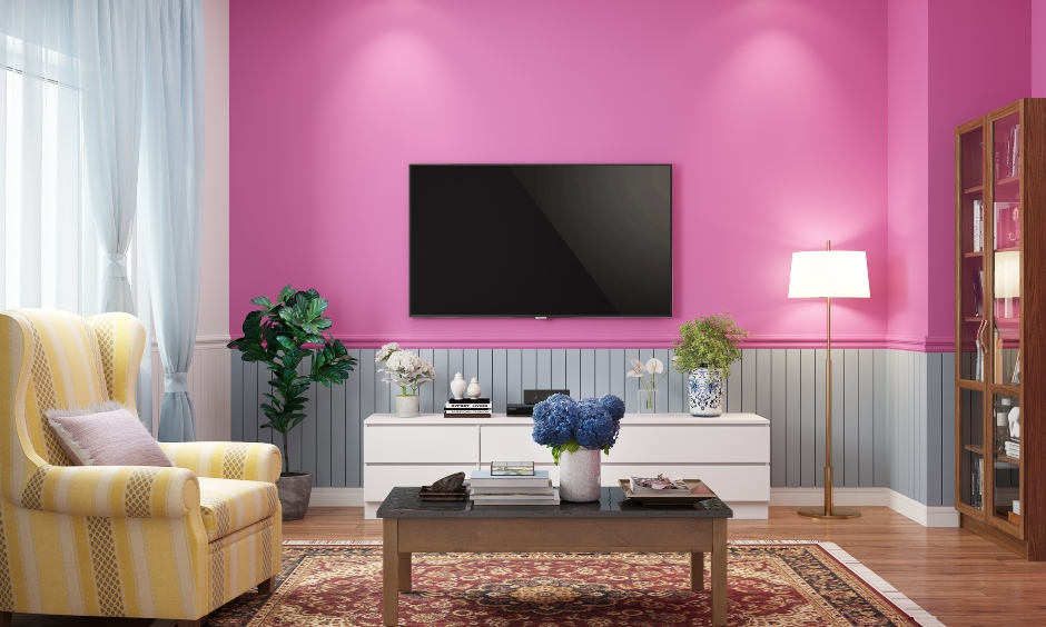 Fluorescent pink bedroom colour helps break the monotony of your dull home