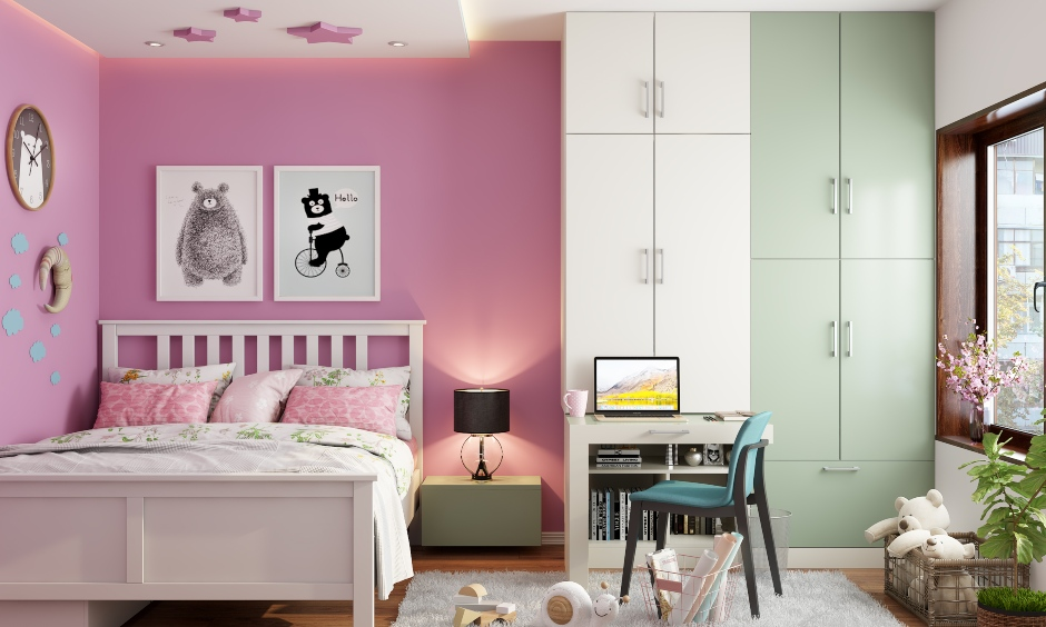 Pink colour wall paint for your home which makes plain boring walls look beautiful and perks up your home