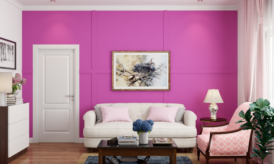 Pink wall paint for your home which is welcoming and very retro pink paint