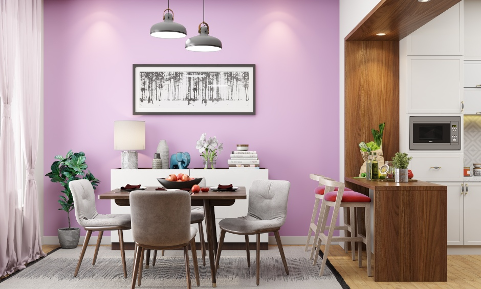 Orchid pink wall paint designs for your home which enhances dull walls in no time