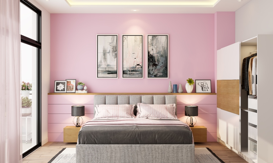 Pale pink paint colours for bedrooms which goes perfectly well with a plethora of styles