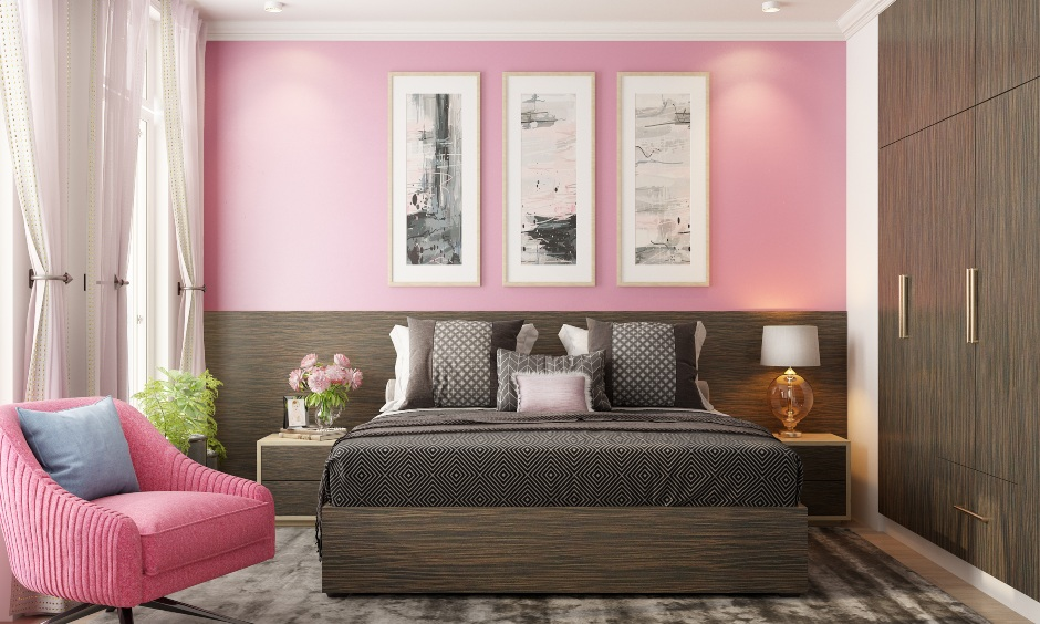 Pearl pink colour house for your home which is pacifying as ocean breeze