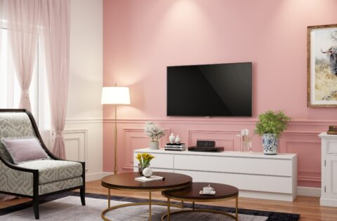 Pink colour rooms for your home