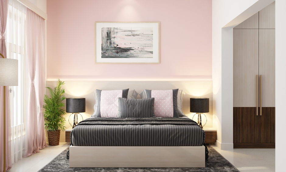 Pink paint colours for your home with modern colour palette which gives a nice sheen to your hallways