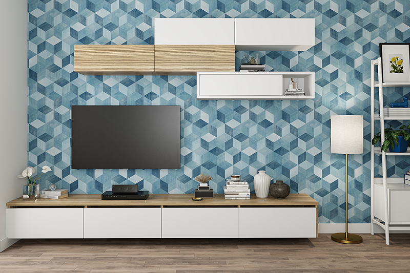 New type of wallpaper for your home which is a type of plastic that is cheap, durable and light