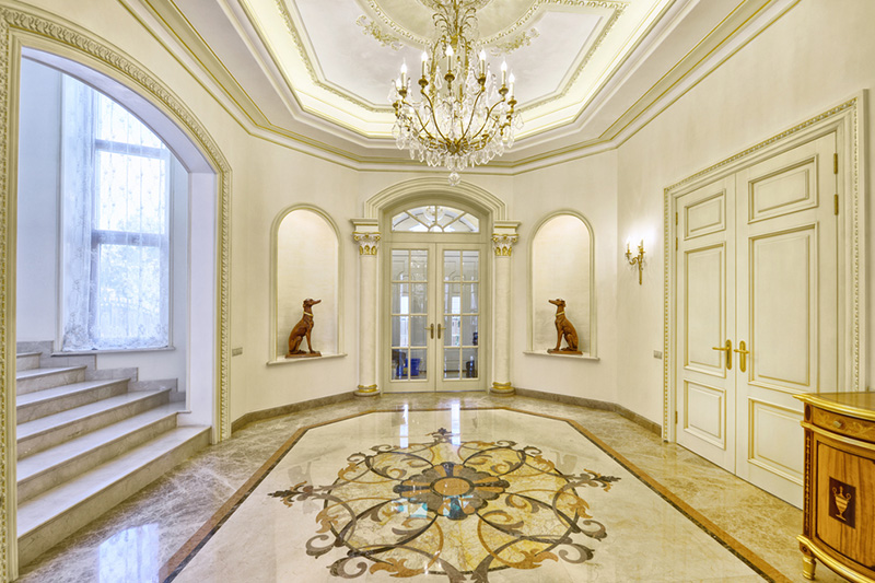Gorgeous hall floor marble design if you are looking for a quirky design you may love this one.