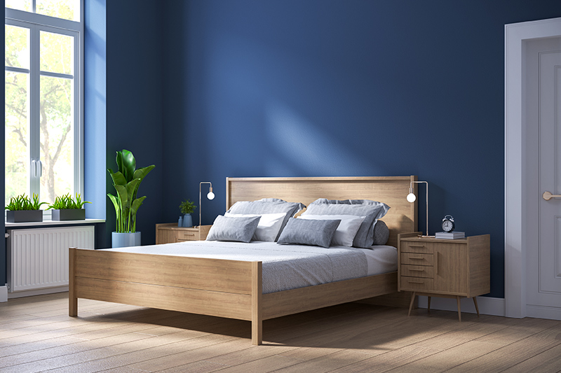Royal blue bedroom, for cosy feels and laid back vibes, it is an ideal colour for your chamber.