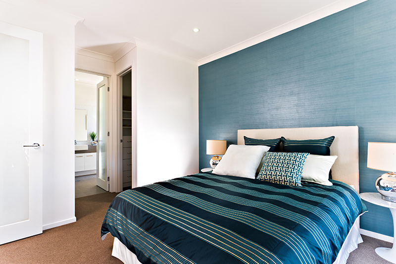 Blue and white bedroom colour where with the right mix of texture and hue, this shade makes your bedroom look outstanding without a doubt.