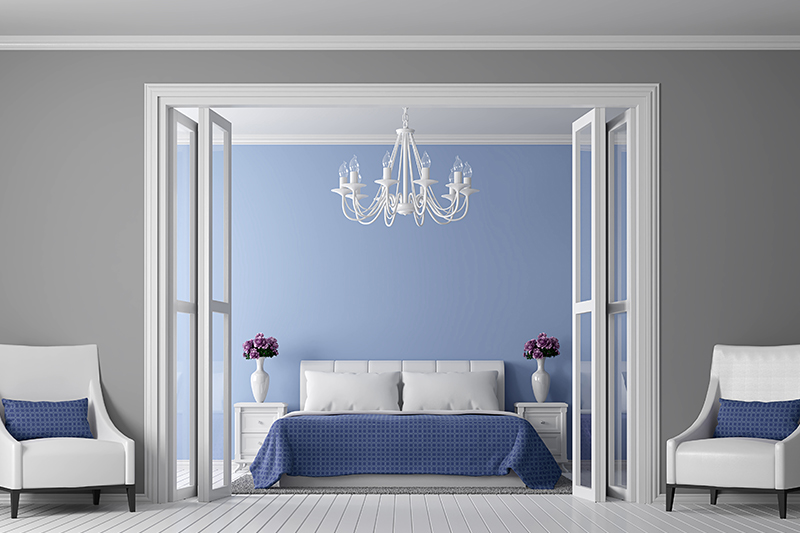 Vintage blue bedroom walls colour make grants old-world feel to your bedroom yet make it look classy as well.