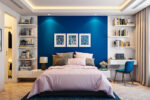Stunning blue bedroom colors that blue perks up your walls and uplifts the vibe of your chamber like no other colour.