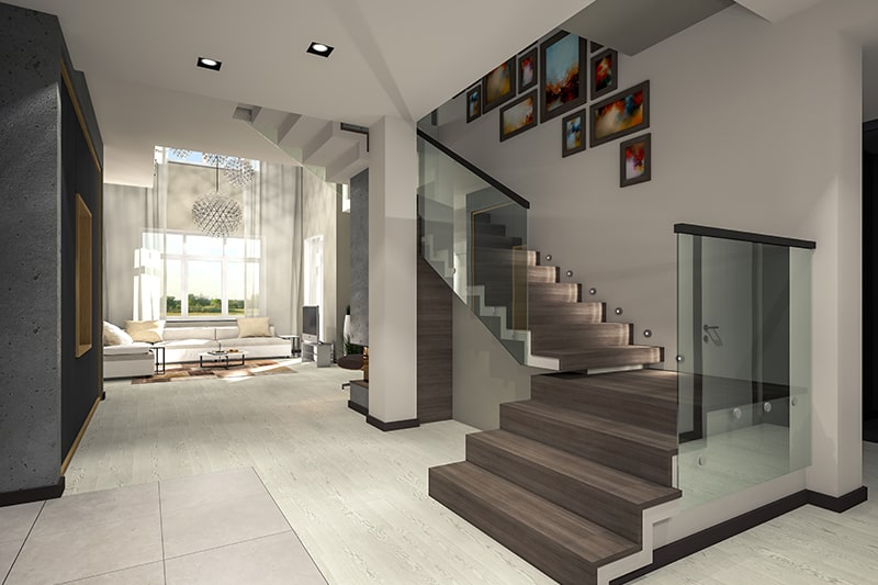 Types of stairs design with l-shaped staircases for corner spaces and small homes