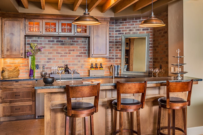 A rustic style home bar designs bring in the old cowboy style is a one of the home bar design ideas in 2020