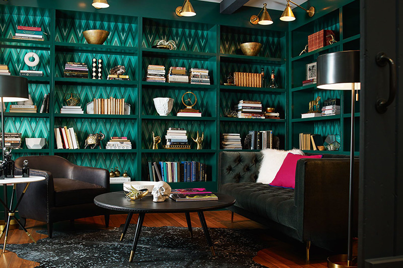 Library and living room ideas for small spaces revamp your entire area into a top-to-bottom mini library and maximise space.