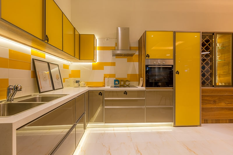 Sleek and smooth finishes not in civil kitchens but in modular kitchen