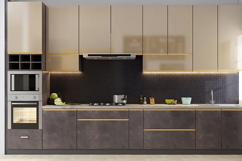 Carpenter made civil kitchen does not give you a a visual 3d presentation which is not in the case of modular kitchen