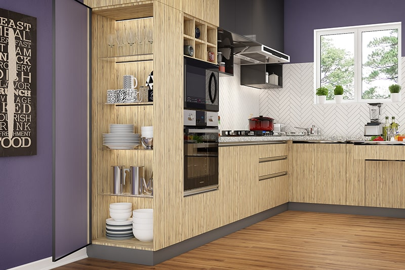 Carpenter made civil kitchen are not where as modular kitchens are durable and sustainable