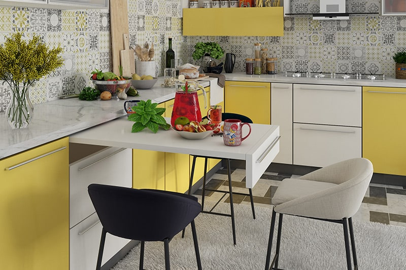 In case of civil kitchens budget is fluctuating but modular kitchens are designed to your budget