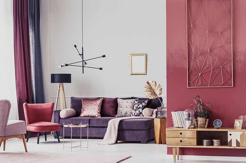 Purple room colours for your home