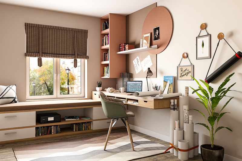 Antique home office desk for an architect where your job requires creativity and hours of sketching where you can also require a partner desks for home office