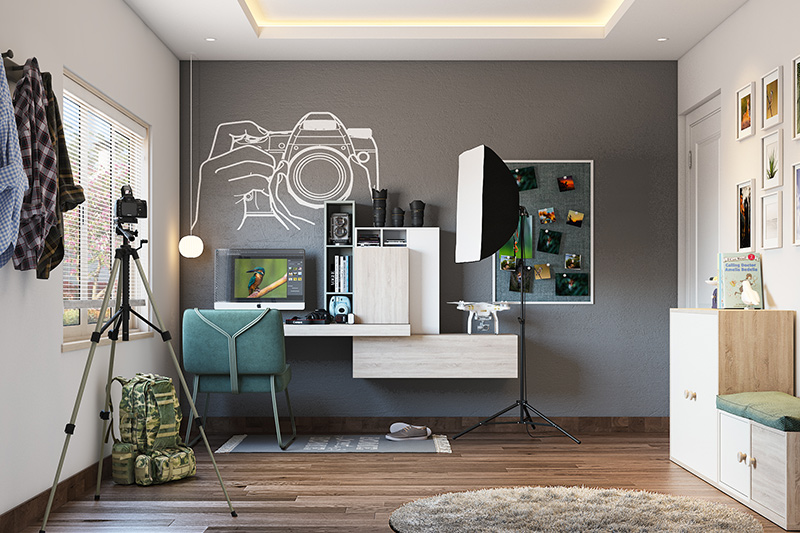 Adjustable home office desk for an artist or if you are a full-time photographer or a 3d visual artist and require a home office desk chair