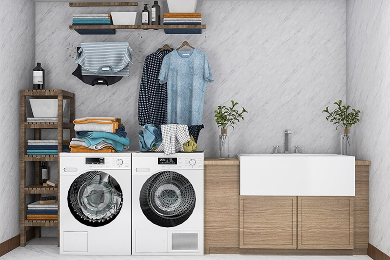 Multifunctional laundry room ideas to make some space in your laundry room